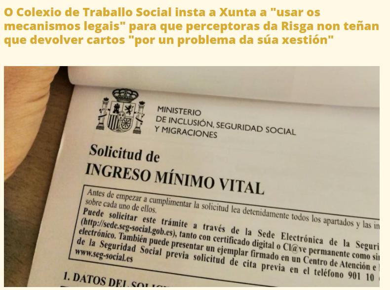 O COTSG insta a Xunta a utilizar os mecanismos que eviten ás persoas preceptoras da RISGA asumir as consecuencias de fallos na xestión