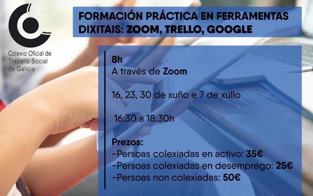 Formación práctica en ferramentas dixitais: Zoom, Trello, Google